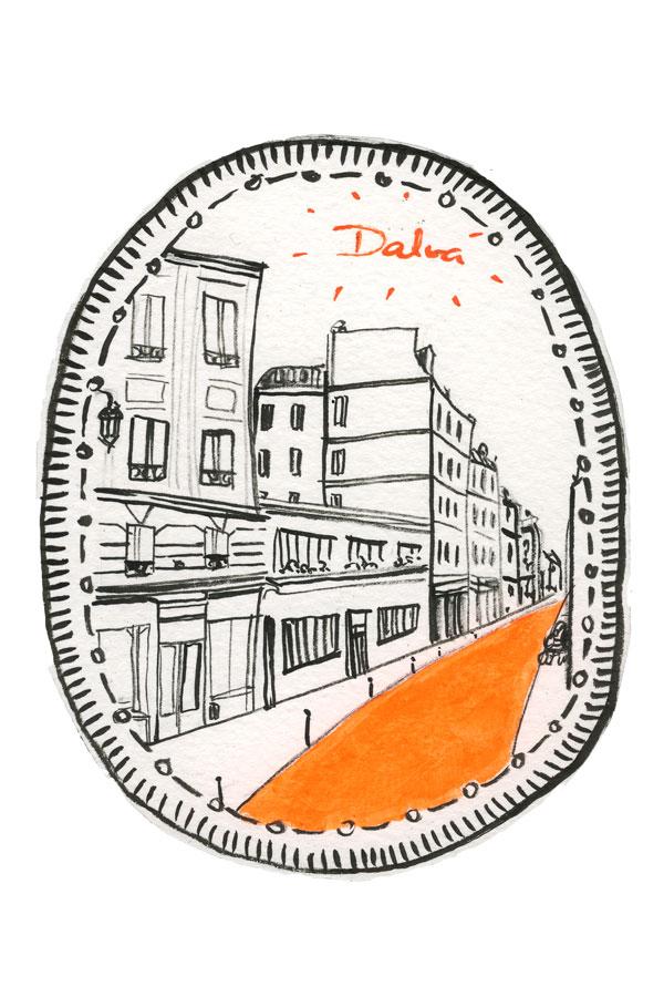 Desenho Paris - rue du Croissant