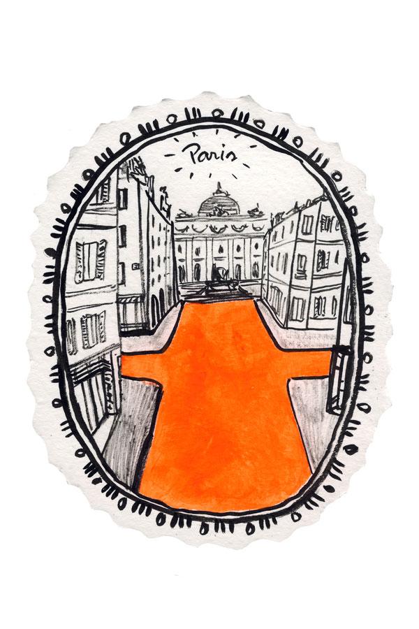Desenho rua de Paris, Opera Garnier