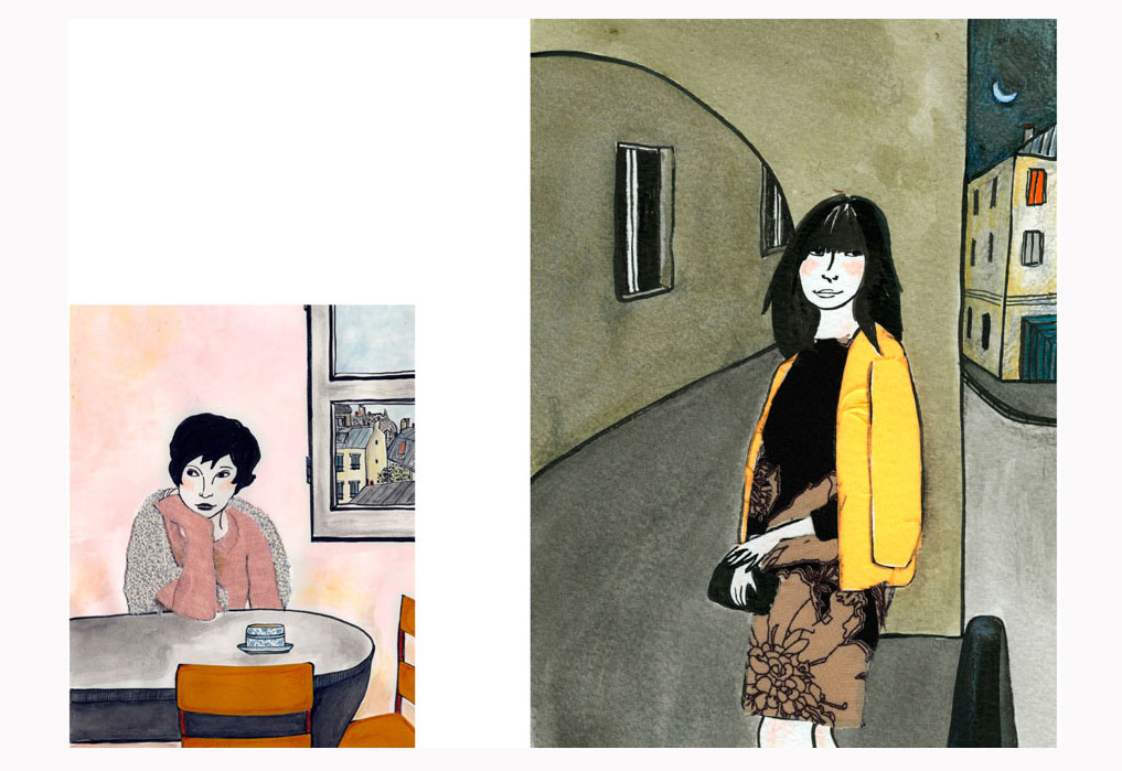 """ilustração: mulheres na série """" Dalva"""""""