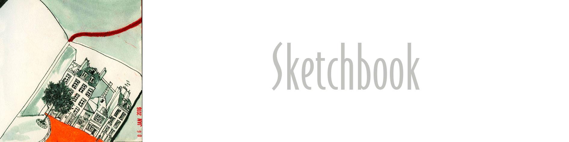 bannière sketchbook