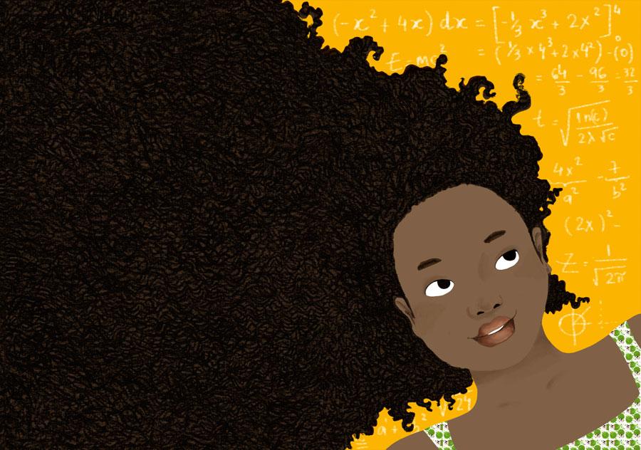 Gaia cheveux au vent
