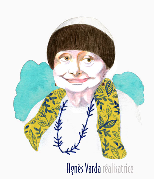 Agnes Varda portrait illustration