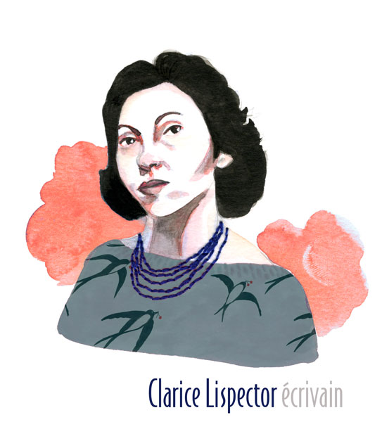 clarisse lispector portrait illustration