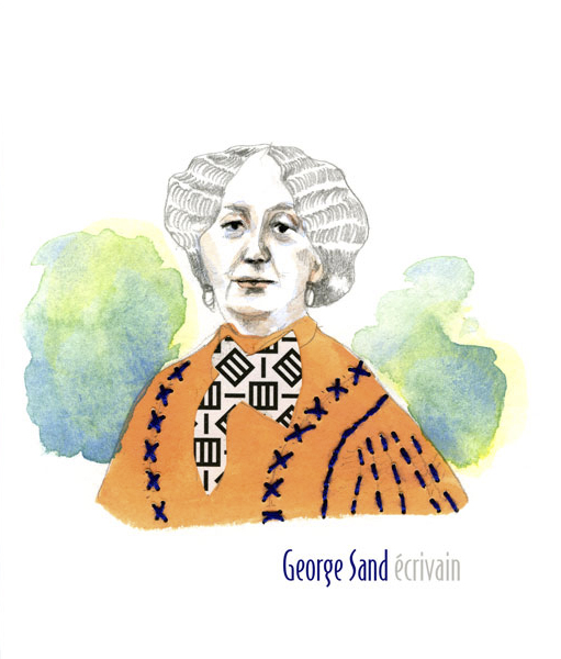 George Sand - portrait illustration
