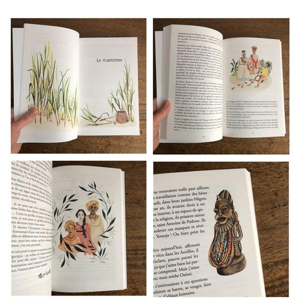 pages du livre Solitude, la flamboyante, édition Anacaona