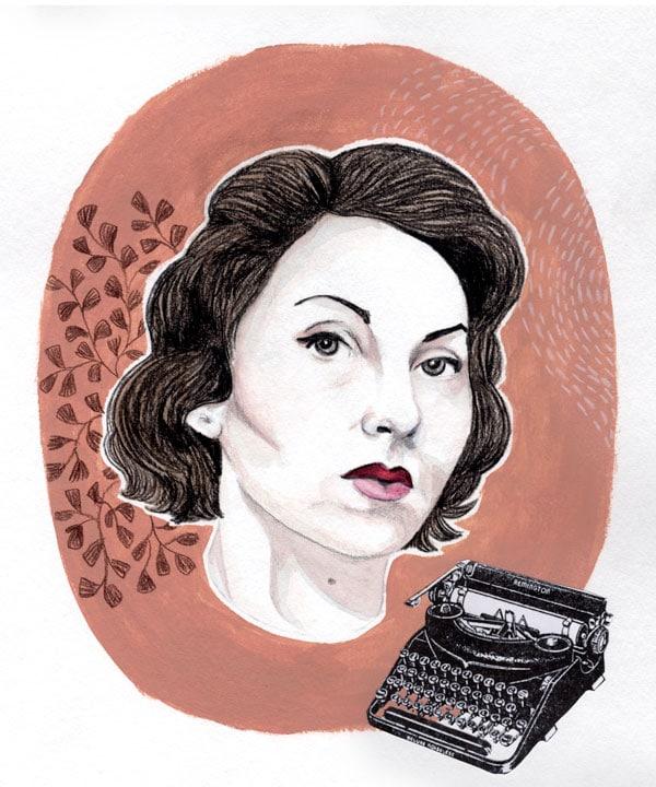 illustration portrait Clarice Lispector