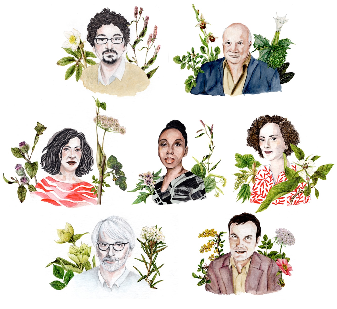illustration - portraits écrivains français
