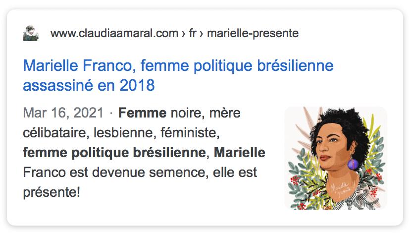 lien vers article sur Marielle Franco